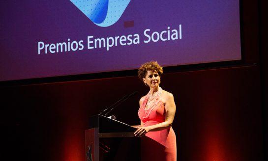Irma Soriano, presentadora de los Premios Empresa Social 2017